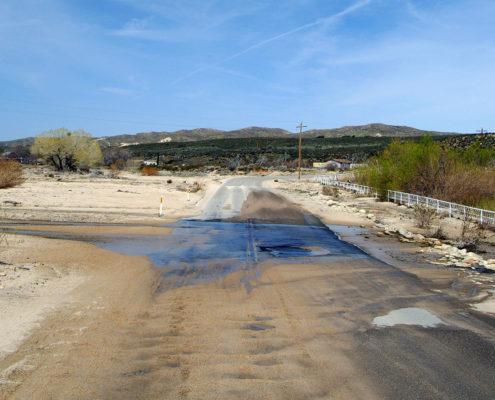 Damaged Road, Inland California