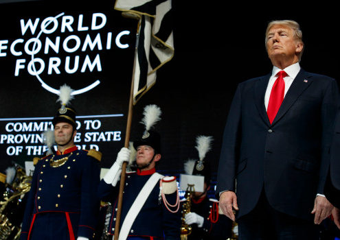 President Donald Trump at WEF