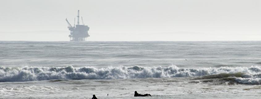 offshore oil rig, California
