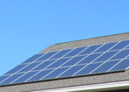 Residential rooftop solar panels