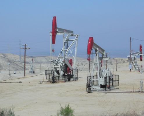 Occidental Oil Wells, Elk Hills CA