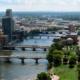 Aerial view of Grand Rapids, Michigan