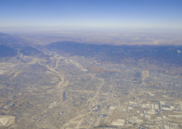 Greater Los Angeles area aerial view