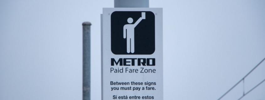 Houston METRO transit sign