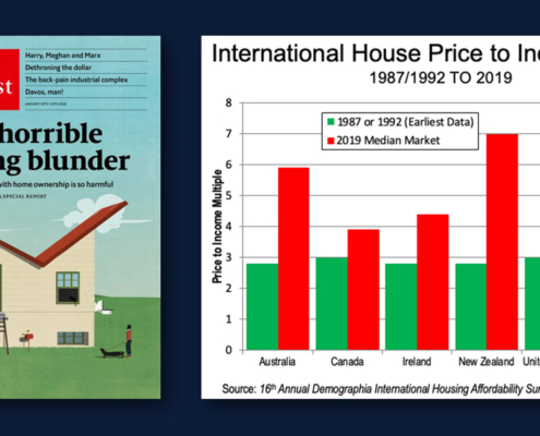 The Economist cover - and some housing facts