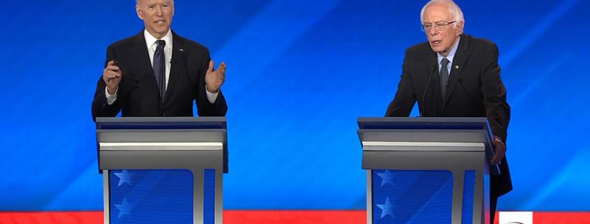 Democratic Presidential Debate, Biden and Sanders