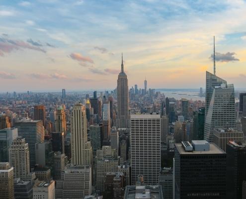 Manhattan, a high density urban area