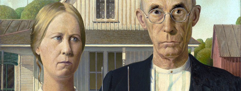 American Gothic, a painting by Grant Wood