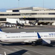 United Airlines plane parked at San Franciscon International Airport