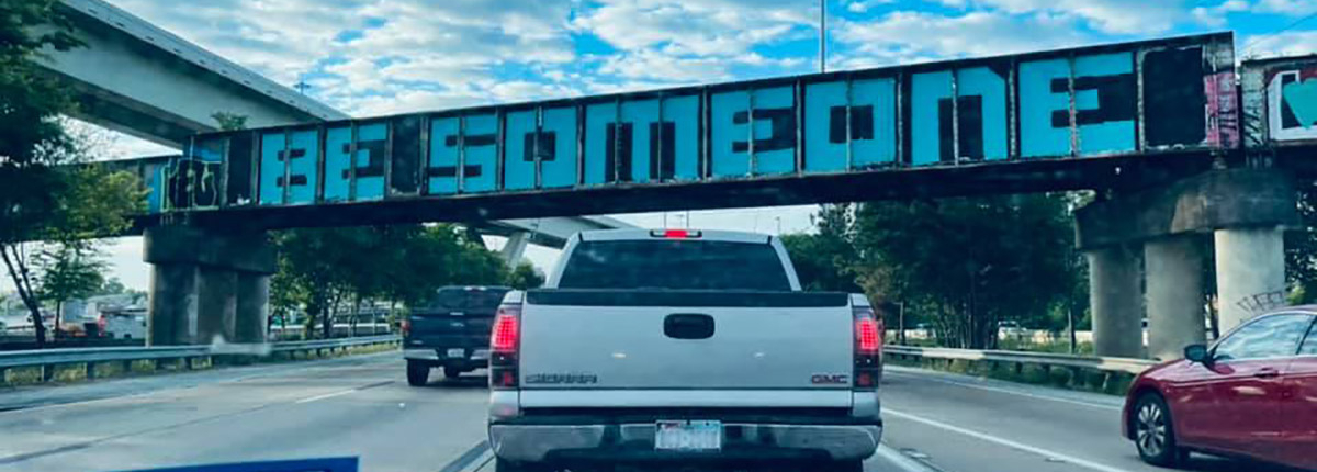 "The ""Be Someone"" bridge"