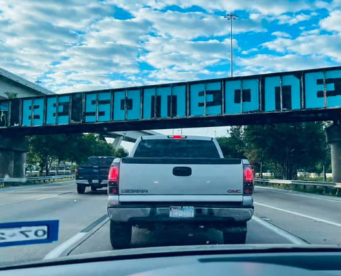 "The ""Be Someone"" bridge"