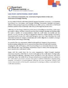CASE STUDY United Federal Credit Union