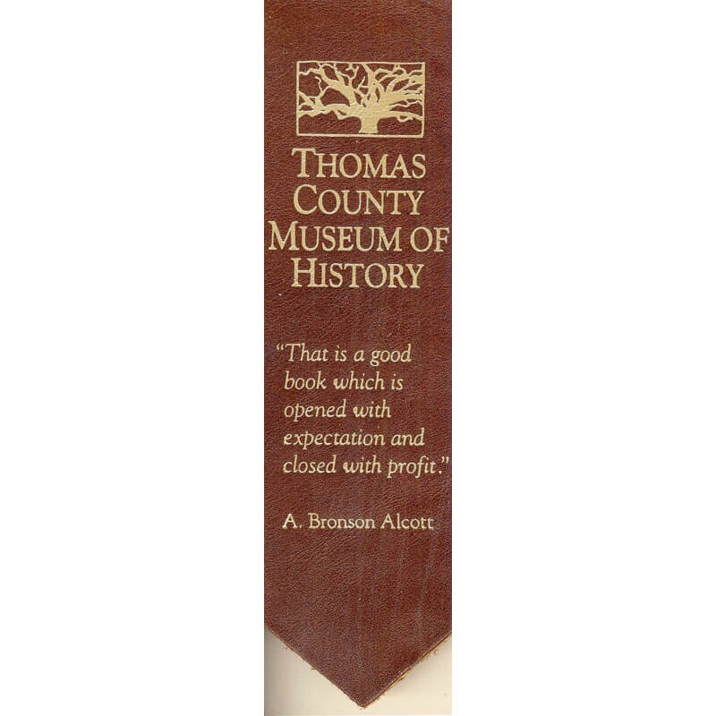 Thomas County Museum of History Leather Bookmark