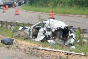 Car crash photo from untreated sleep apnea