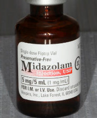 midazolam or versed photo used for dental IV sedation and general anesthesia