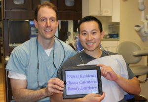 YNHH resident with dentist Dr. Nick Calcaterra, considered Yale's dentist