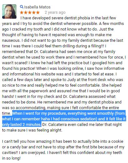 Happy patient of Connecticut's best sedation dentist