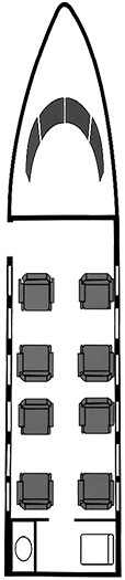 Lear-45 Diagram for plane page