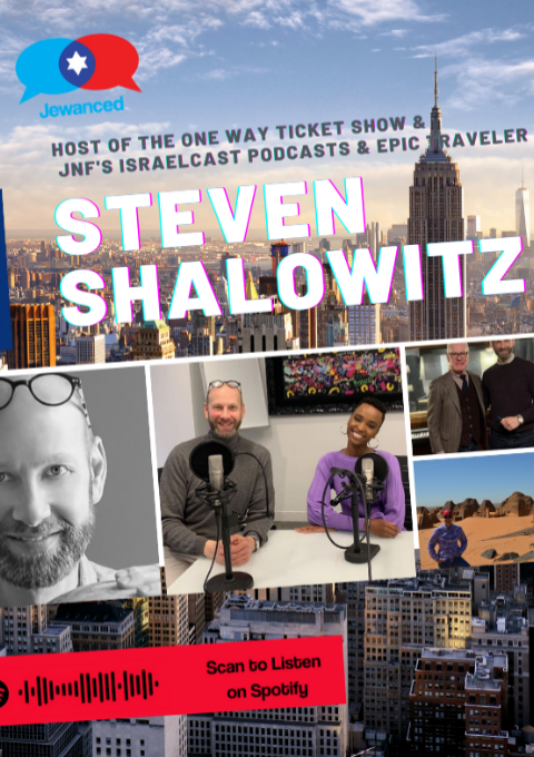 Episode #33 – Steven Shalowitz, host of The One Way Ticket Show & IsraelCast podcasts & real-life explorer