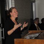 Liz Clasen-Kelly accepting her award