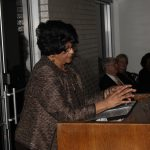 Dorothy Counts-Scoggins Speaking to the Crowd