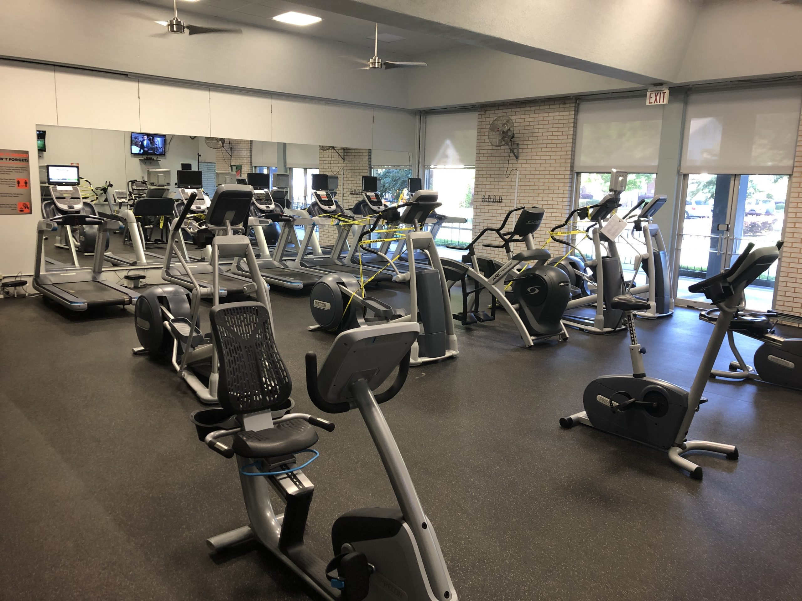 COVID19, social distancing, fitness center, YWCA, gym, co-ed gym, workout, cardio gym, treadmill, elliptical, stationary bike