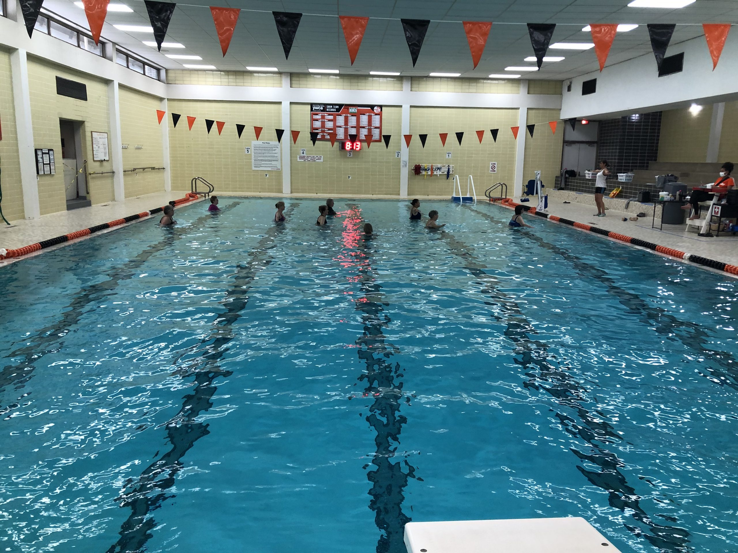 COVID19, social distancing, fitness center, YWCA, gym, co-ed gym, workout, indoor pool, water aerobics