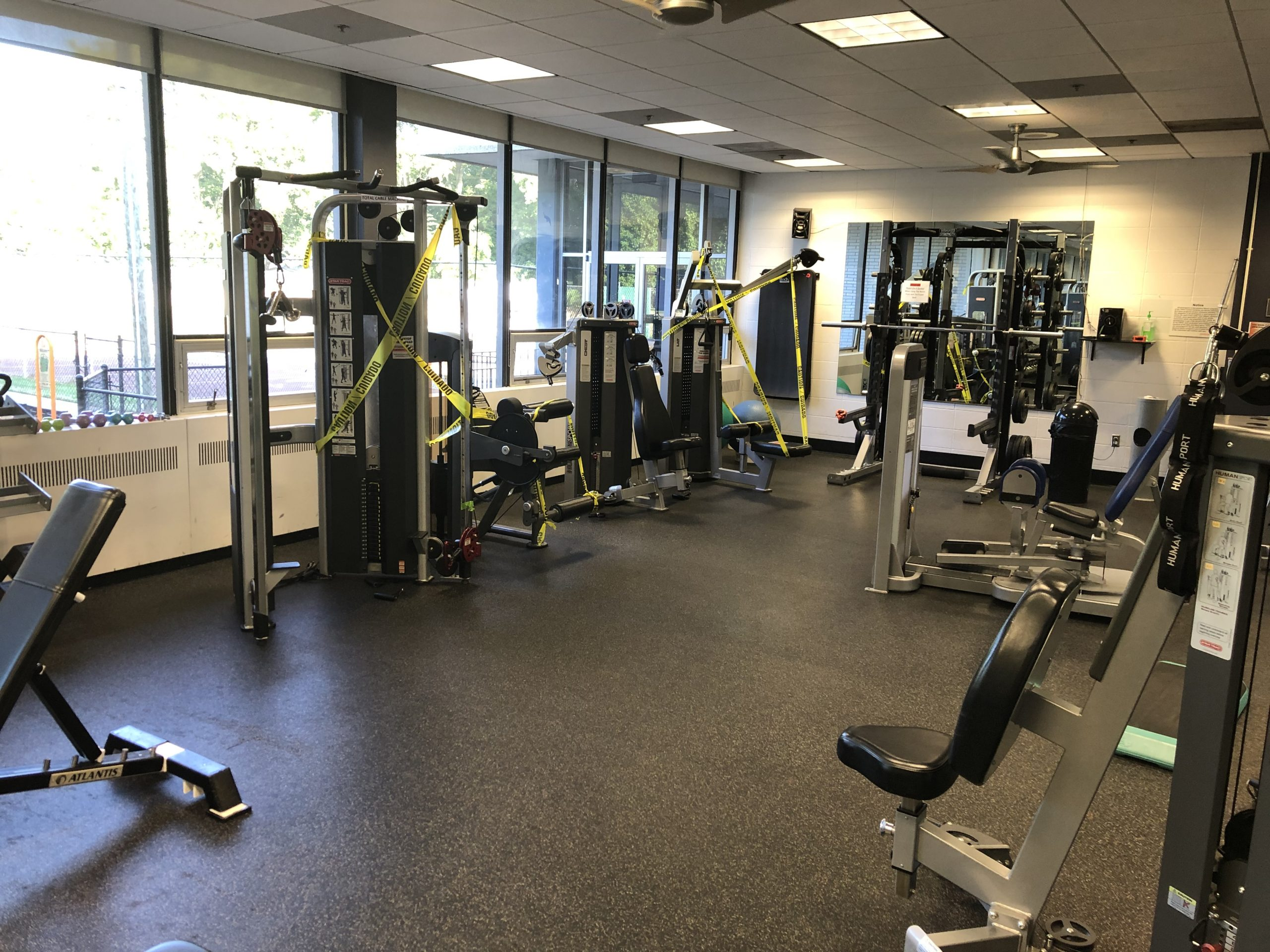 COVID19, social distancing, fitness center, YWCA, gym, co-ed gym, workout, weight gym, lifting