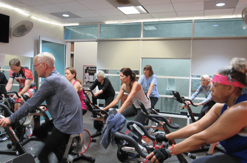 cycle, spin, stationary bikes, group exercise class
