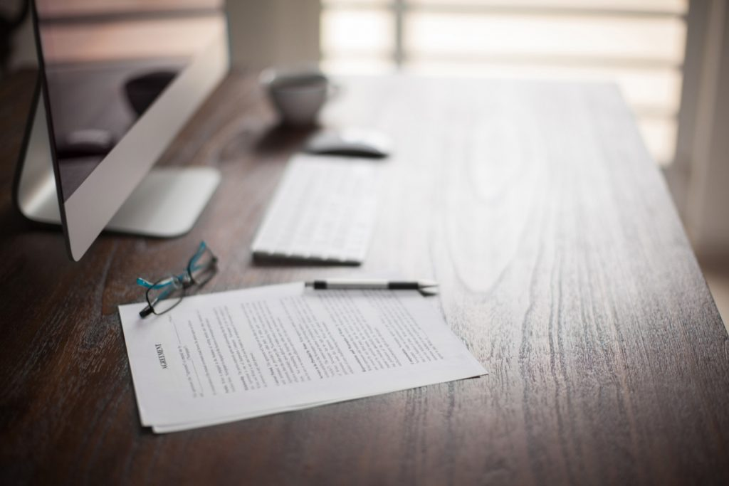 Photo of Lawyer desk