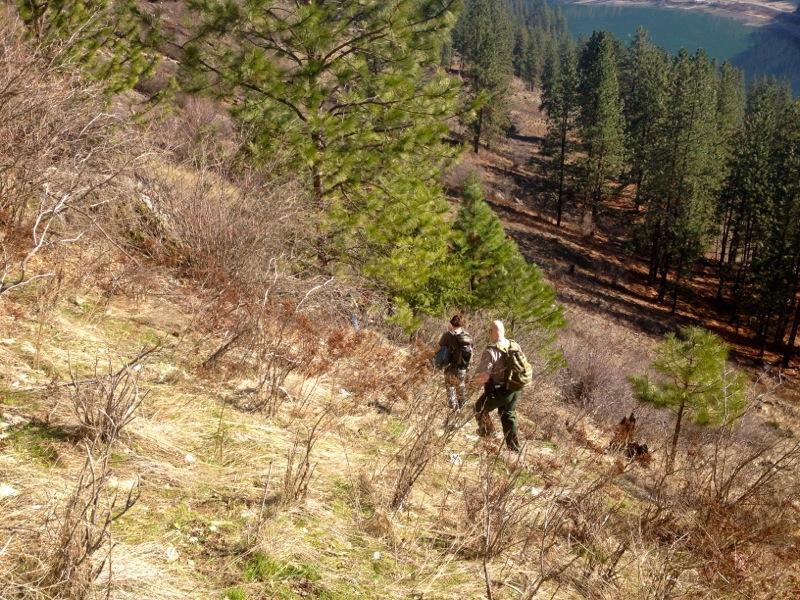 US Park Ranger Matt Smith escorts us away from China Bend.