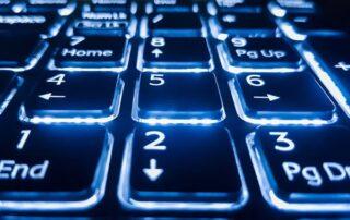 closeup of a back lit keyboard