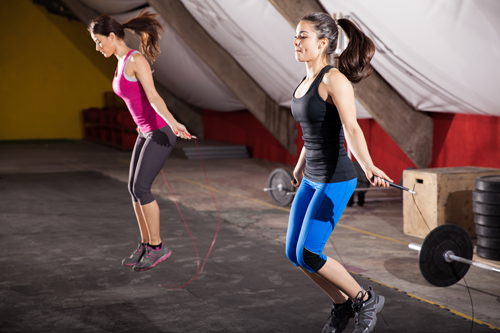 Women Jumping Rope - Jump for Vets event