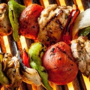 Grilled Chicken Fajita Skewers