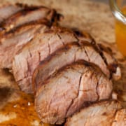 Bourbon Glazed Pork Tenderloin