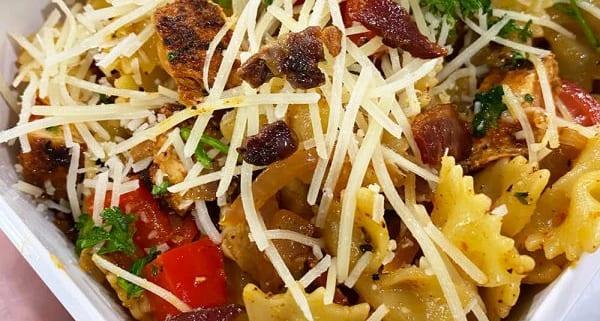 Blackened Chicken Garlic Bowtie Pasta