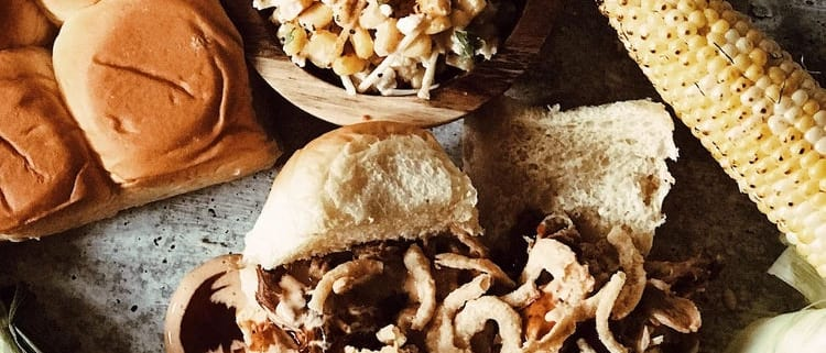 Pork Sliders and Street Corn Salad