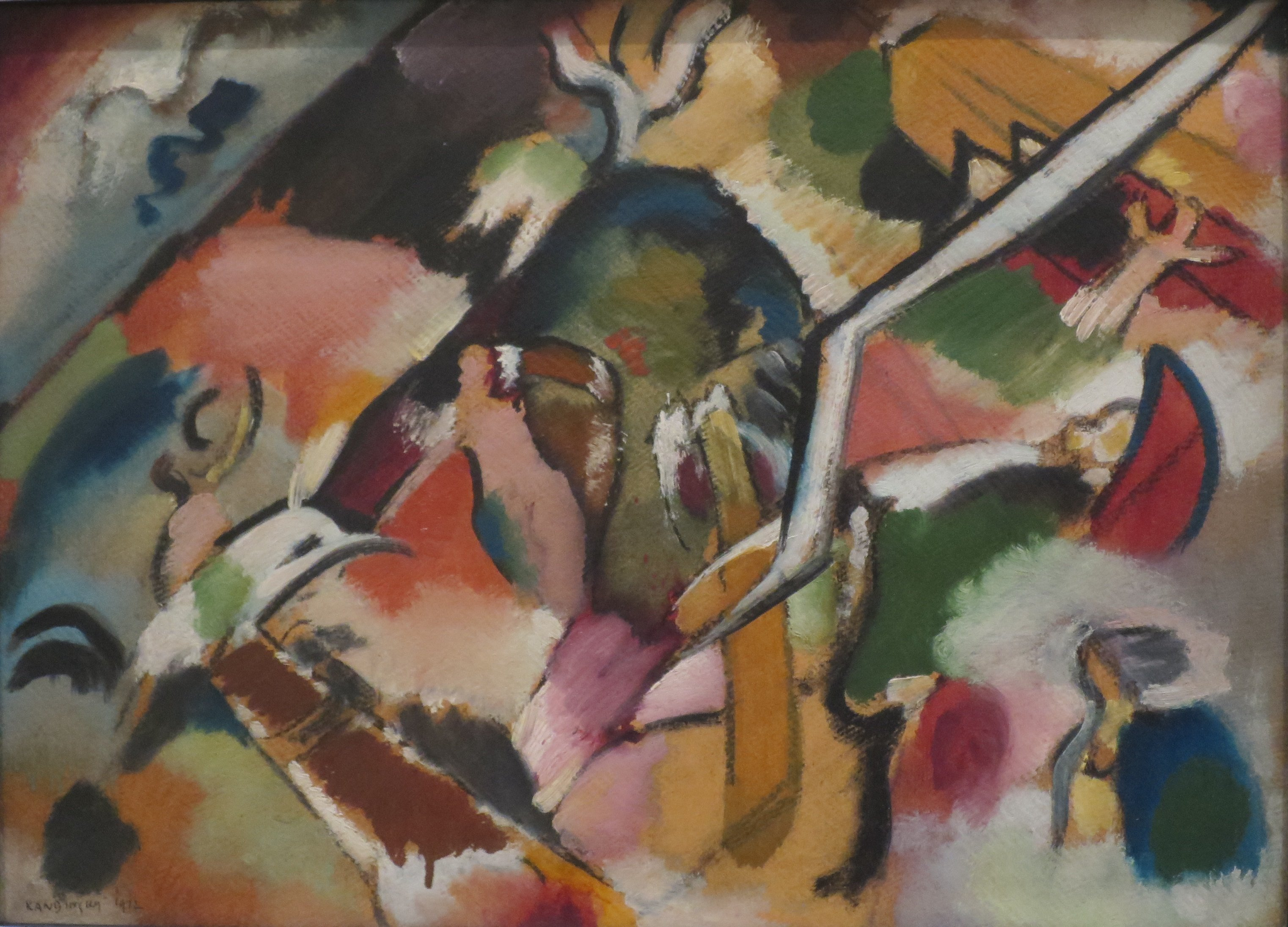 abstract painting of a deluge