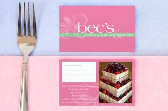 Bec's Cakes Business Card Design
