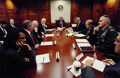 President-George-W-Bush-General-Hugh-Shelton-White-House-Situation-Room