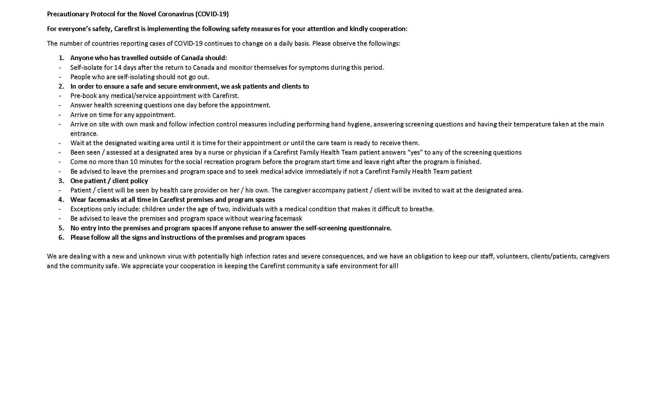 COVID-19 Notice Page 4