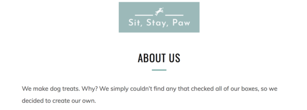 pet industry website copy
