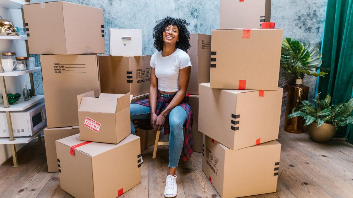 woman finished moving