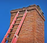 Our chimney service includes lightning damage repairs
