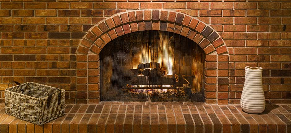 Fire-Safe Chimney Sweeps brick fireplace and hearth