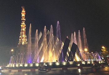 Đài phun nước Vòng Xoay Tây Ninh