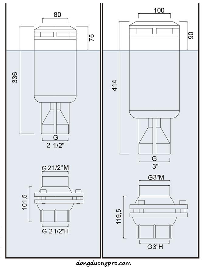 Bản vẽ kỹ thuật vòi phun Geyser