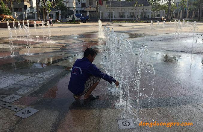 Lắp đặt sàn phun nước công viên Sóc Trăng