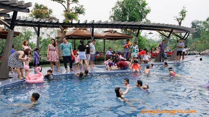 Hồ bơi nhạc nước khu du lịch Bến Hẹn