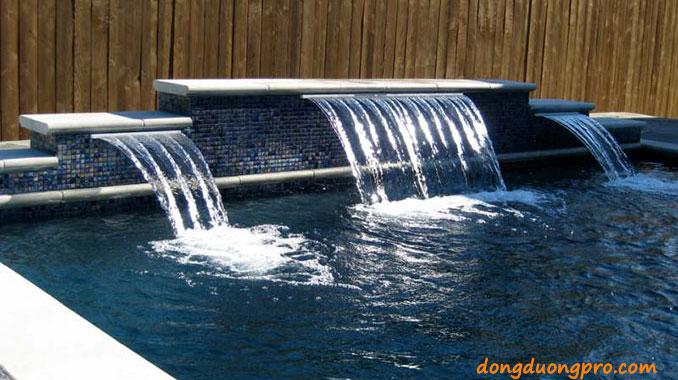 Thác nước tràn nghệ thuật hồ bơi